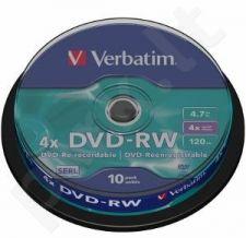 DVD-RW Verbatim [ cake box 10 | 4.7GB | 4x ]