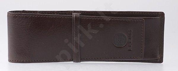 KRENIG Classic 12032 rudas odinis dėklas rašikliams
