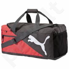 Krepšys Puma Fundamentals Sports Bag M 07339504 juoda-raudona