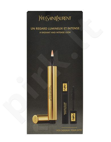 Yves Saint Laurent Touche Eclat rinkinys moterims, (2,5ml Touch Éclat Radiant Touch No.1 + 2ml blakstienų tušas Volume Effet Faux Cils No.1) , (1)
