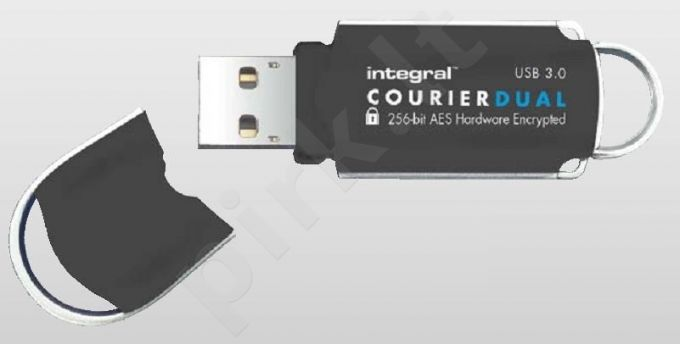 Atmintukas Integral Courier Dual 32GB USB3.0 FIPS 197 AES 256-bit enryption