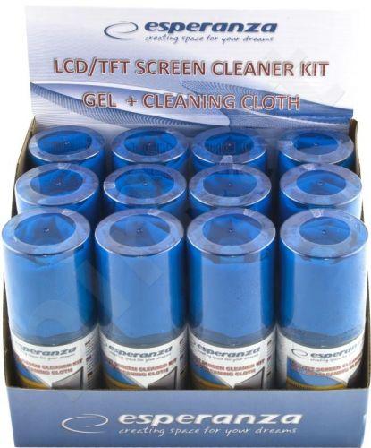 Rinkinys LED / LCD / TFT ekranų valymui Esperanza |  DISPLAY BOX 12 Pcs.