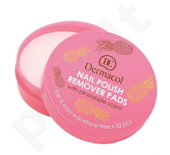 Dermacol Nail Polish Remover, Pads, nagų lako valiklis moterims, 32pc