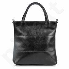 DAN-A T86 juoda rankinė iš natūralios odos , moteriška