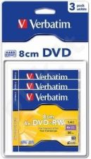 mini DVD+RW Verbatim [ jewel case 3 | 1.4GB | 4x | blisterpack ]