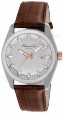 Laikrodis KENNETH COLE - NEW YORK CLASSIC vyriškas S /S IP ROSE GOLD BROWN STRAP