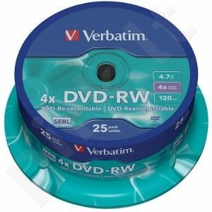 DVD-RW Verbatim [ spindle 25 | 4,7GB | 4x ]