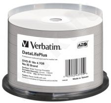 DVD-R Verbatim [ cake box 50 | 4.7GB | 16x | spausdinimui Thermal ]