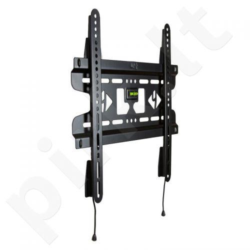 4World LCD sieninis laikiklis 25''- 42'' fiksuotas, SLIM, TV svoris iki 45kg BLK