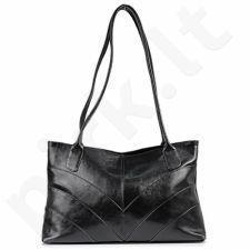 DAN-A T172 juoda rankinė iš natūralios odos , moteriška