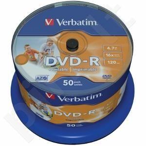 DVD-R Verbatim [ spindle 50 | 4.7GB | 16x | do nadruku | ID branded ]