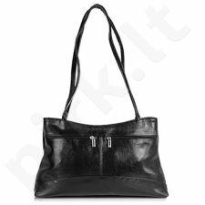 DAN-A T173 juoda rankinė iš natūralios odos , moteriška