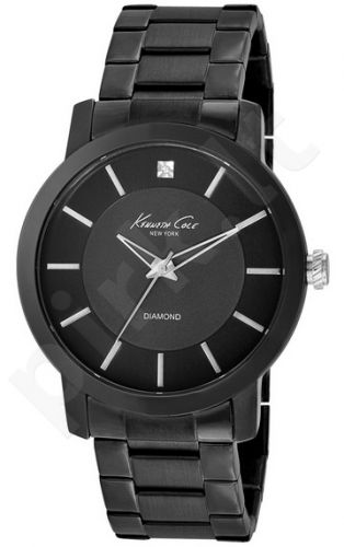 Laikrodis KENNETH COLE - ROCK OUT ONE DIAMOND MARKER IP BLACK S /S apyrankė