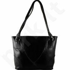 DAN-A T174 juoda rankinė iš natūralios odos , moteriška