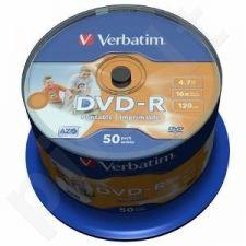 DVD-R Verbatim [ cake box 50 | 4.7GB | 16x | spausdinimui Wide ]