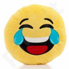 """Pliušinė pagalvė """"Emocija: juokas"""" (30cm)"""