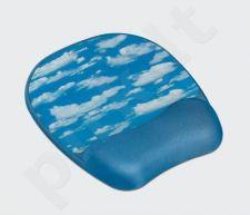 Gelinis kilimėlis pelei su atrama riešui Fellowes Memory Foam, debesys