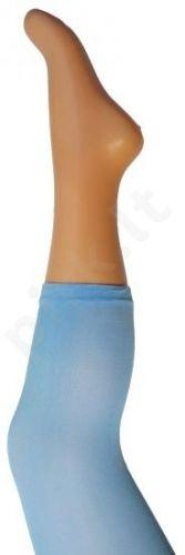 Vienspalvės mėlynos spalvos tamprės iš mikrofibros 40 denų storio (dydžiai nuo 68 iki 158 cm)