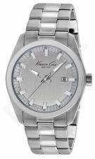 Laikrodis KENNETH COLE - NEW YORK S /S vyriškas S /S apyrankė SILVER DIAL
