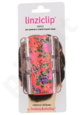 Linziclip Maxi Plaukų segtukas, kosmetika moterims, 1vnt, (Jazzy Red Bloom)
