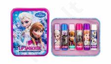 Lip Smacker Lip Balm, Disney Frozen, rinkinys lūpų balzamas vaikams, (lūpų balzamas 6 x 4 g + Tin Box)