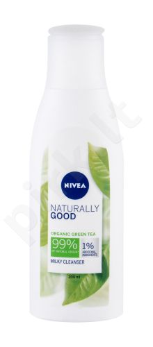 Nivea Naturally Good, Green Tea, prausiamasis pienelis moterims, 200ml