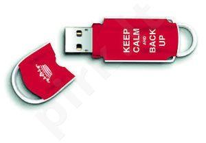 Atmintukas Integral Xpression Art 8GB, Keep Calm & Back Up, Raudonas, Stilingas