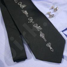 Kaklaraištis su rišimo instrukcija