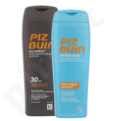 Piz Buin Allergy Sun jautiai odai losjonas SPF30 Kit rinkinys moterims, (200ml Allergy Sun jautiai odai losjonas SPF30 + 200ml Po saulės drėkinamasis losjonas)