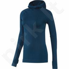 Bliuzonas  adidas Seamless Climaheat Hooded Longsleeve W AP7347