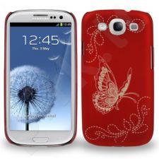 Samsung Galaxy S3 dėklas Butterfly Telemax raudonas