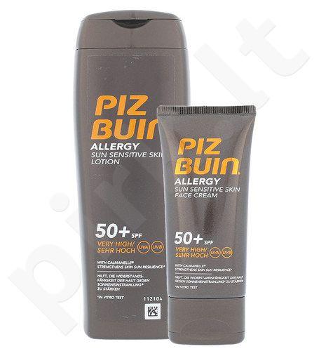 Piz Buin Allergy Sun jautiai odai losjonas SPF50+ Kit rinkinys moterims, (200ml Allergy Sun jautiai odai losjonas SPF50+ + 50ml Allergy Sun jautrios veido odos kremas SPF50+)
