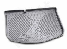 Guminis bagažinės kilimėlis CITROEN C3 hb 2002-2010  black /N08006