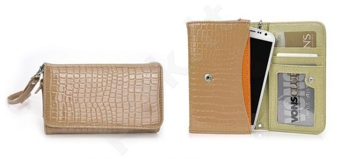 13-A1 WALLET FASH universalus dėklas XL Forever cocoa