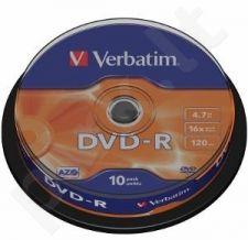 DVD-R Verbatim [ cake box 10 | 4.7GB | 16x | matte silver ]
