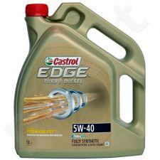 Variklio alyva CASTROL EDGE FST Turbo Diesel Titanium 5W40 5L