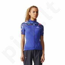 Marškinėliai rowerowa Adidas Trail Race Cycling Jersey W S05566
