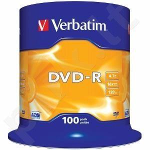 DVD-R Verbatim [ cake box 100 | 4.7GB | 16x | matte silver ]