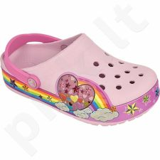 Šlepetės Crocs  Lights Rainbow Heart Clog K Ballerina Pink Jr 202662