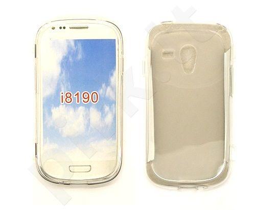Samsung Galaxy S3 mini dėklas siliconULTRA GT baltas permatomas