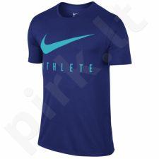 Marškinėliai treniruotėms Nike Swoosh Athlete Tee M 739420-455