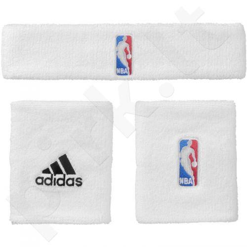 Riešinės Adidas NBA Wristband Plus Headband 3vnt G87965