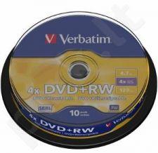 DVD+RW Verbatim [ cake box 10 | 4.7GB | 4x ]