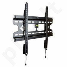 4World LCD/PDP sieninis laikiklis 37- 50'' fiksuotas SLIM TV svoris iki 50kg BLK