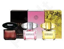 Versace Mini Set rinkinys moterims, (EDT 5ml yellow diamond + EDT 5ml bright crystal + EDT 5ml crystal noir)