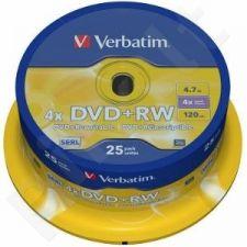 DVD+RW Verbatim [ cake box 25 | 4.7GB | 4x ]