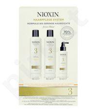 Nioxin System 3 valantis šampūnas rinkinys moterims, (150ml System 3 valantis šampūnas + 150ml System 3 Scalp Revitaliser kondicionierius + 50ml System 3 Scalp Treatment)