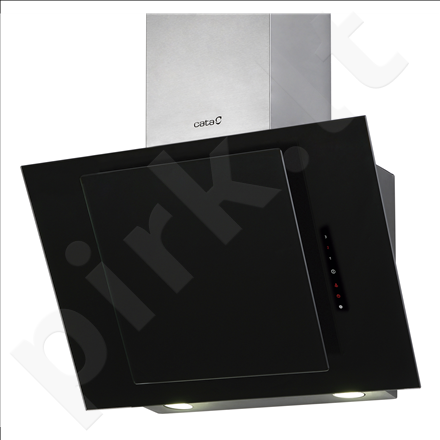Cata CERES 600 XGBK Black Glass Wall hood