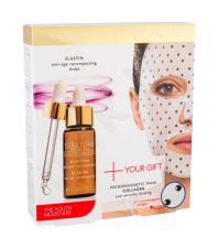Collistar Elastin Serum + Collagen Mask, Pure Actives, rinkinys veido serumas moterims, (veido serumas 30 ml + Skin Mask Micromagnetic Mask Collagen 1 pc)