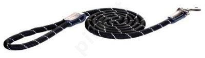 Rogz Pavadys Rope Lang M  Black 180cm/9mm